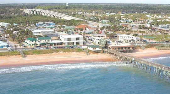 Aerial Photo Flagler Pier