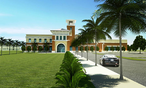 New City Hall building in Palm Coast Town Center