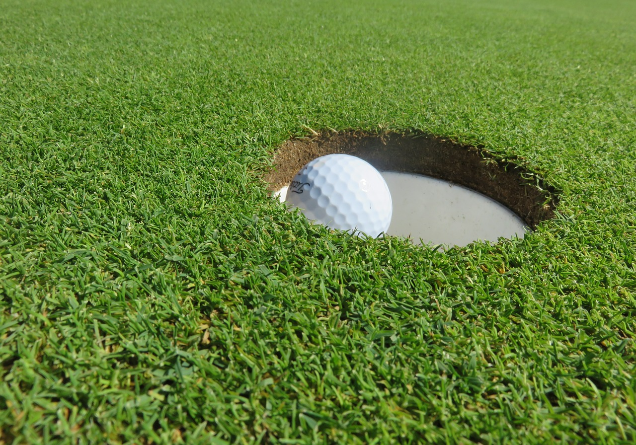 Close-up of Flagler County FL golf course hole